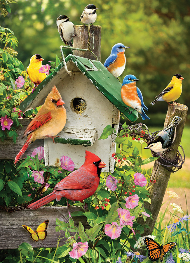 Summer Birdhouse 1000 piece puzzle by Cobble Hill
