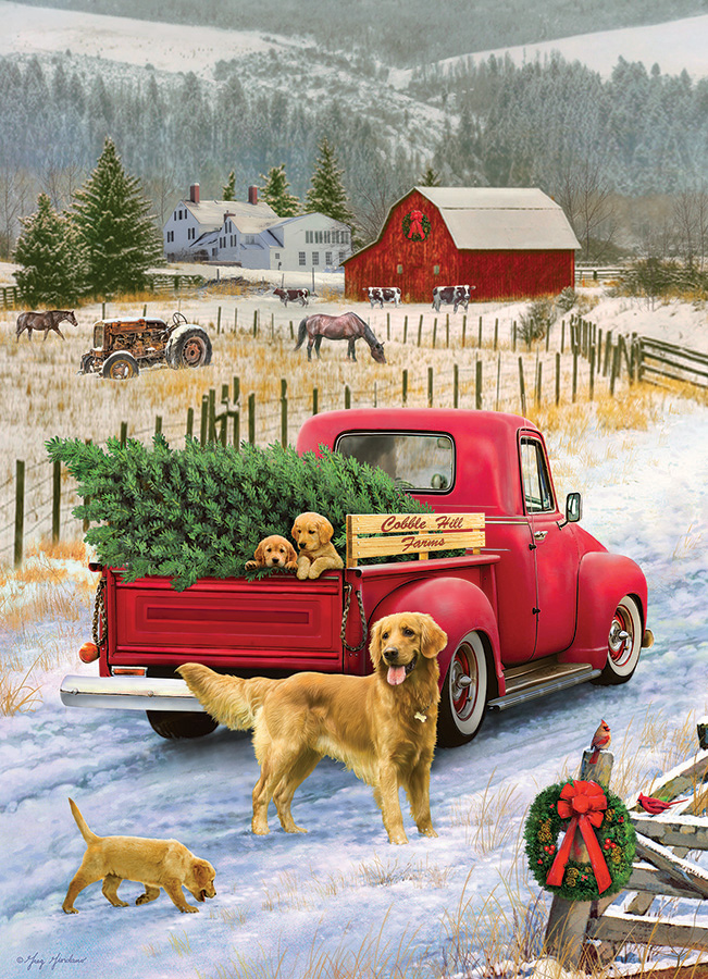 Christmas on the Farm 1000 piece by Cobble Hill