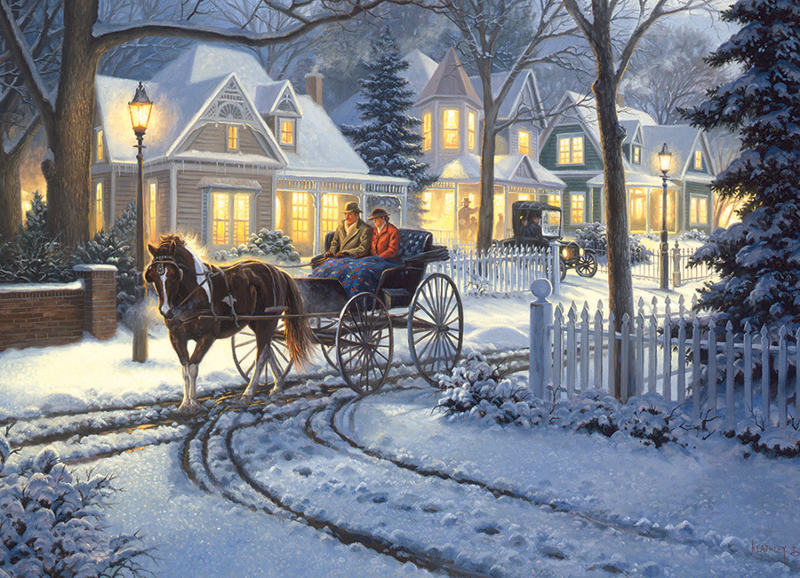 Horse Drawn Buggy winter 1000 piece by Cobble Hill