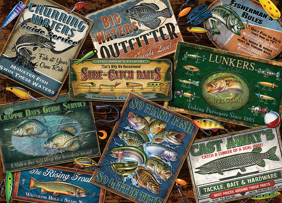 Fish Signs 1000 piece puzzle by Cobble Hill