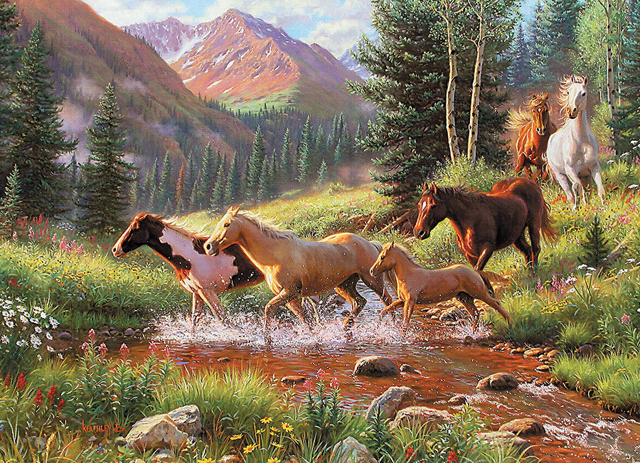 Mountain Thunder 1000 piece horse by Cobble Hill