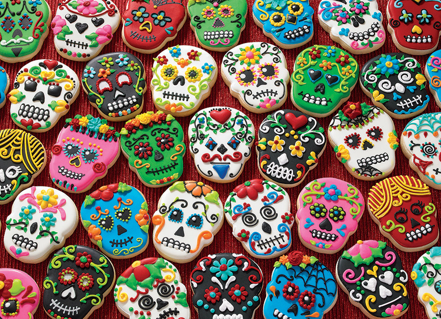 Sugar Skull Cookies TOP 1000 piece by Cobble Hill Puzzle Co