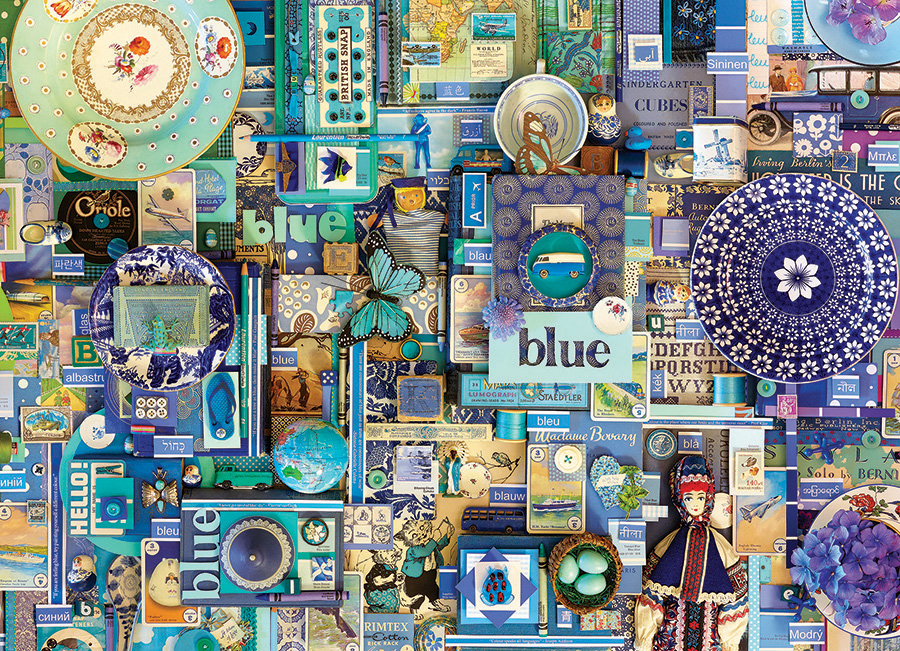 Blue Rainbow Collection by Cobble Hill Puzzle Co and Shelley Davies