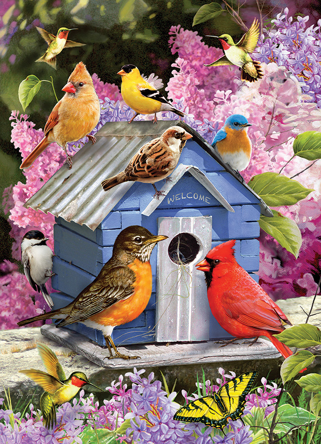 Spring Birdhouse by Cobble Hill Puzzle Co