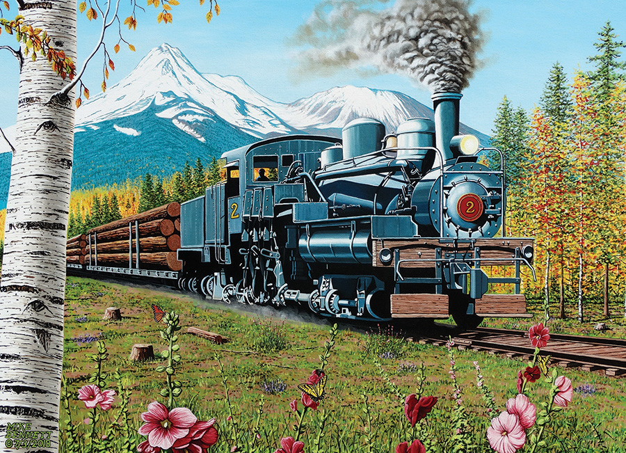 Lumbering Along - 1000 pc puzzle - Cobble Hill Puzzle Co