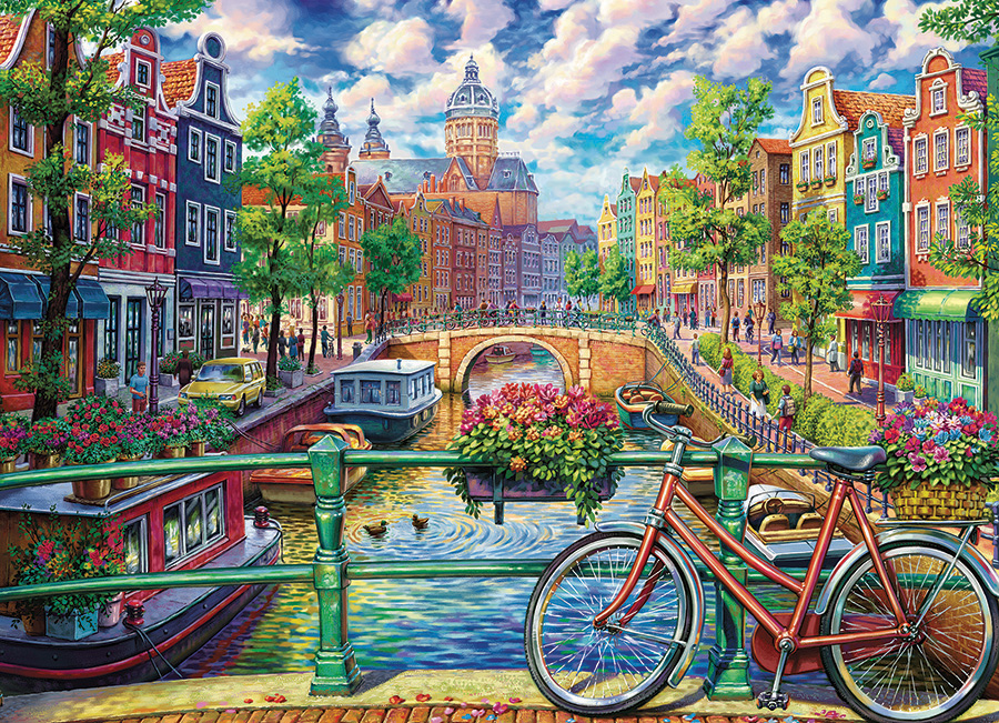 Amsterdam Canal - 1000 pc puzzle - Cobble Hill Puzzle Co