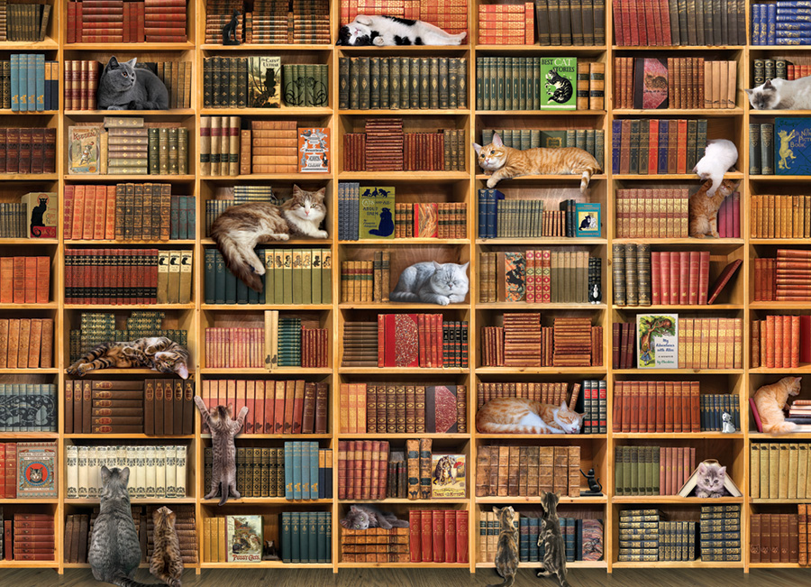 The Cat Library - 1000 pc puzzle - Cobble Hill Puzzle Co