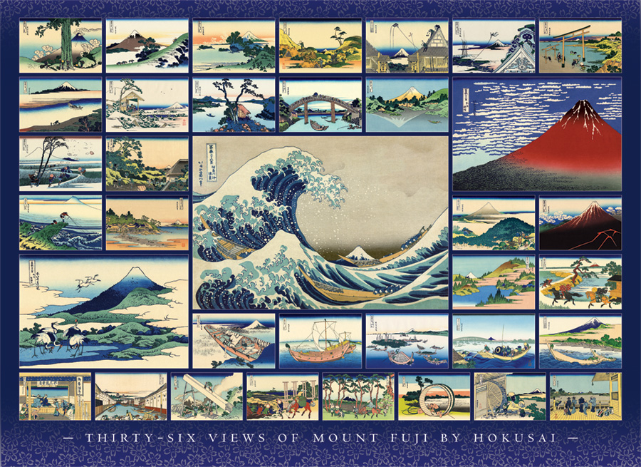 Hokusai - 1000 pc puzzle - Cobble Hill Puzzle Co