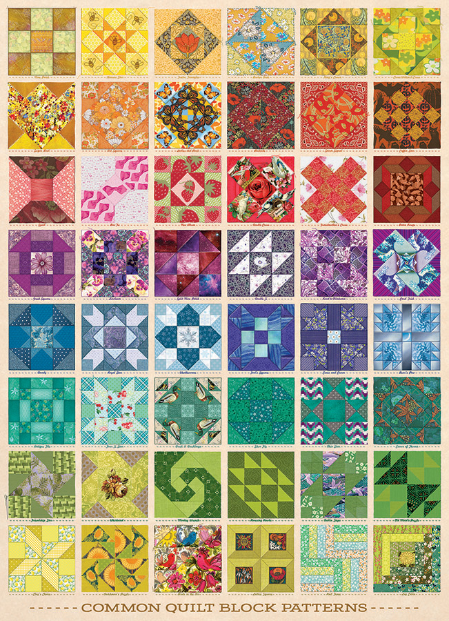 Common Quilt Blocks 1000 pc puzzle - Cobble Hill Puzzle Co