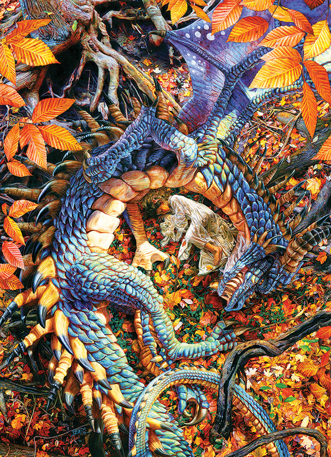Abby's Dragon Owl 1000 pc puzzle - Cobble Hill Puzzle Co