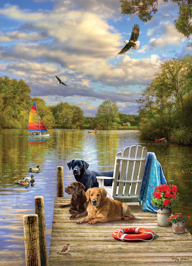 Dog Day Afternoon 1000 pc puzzle - Cobble Hill Puzzle Co