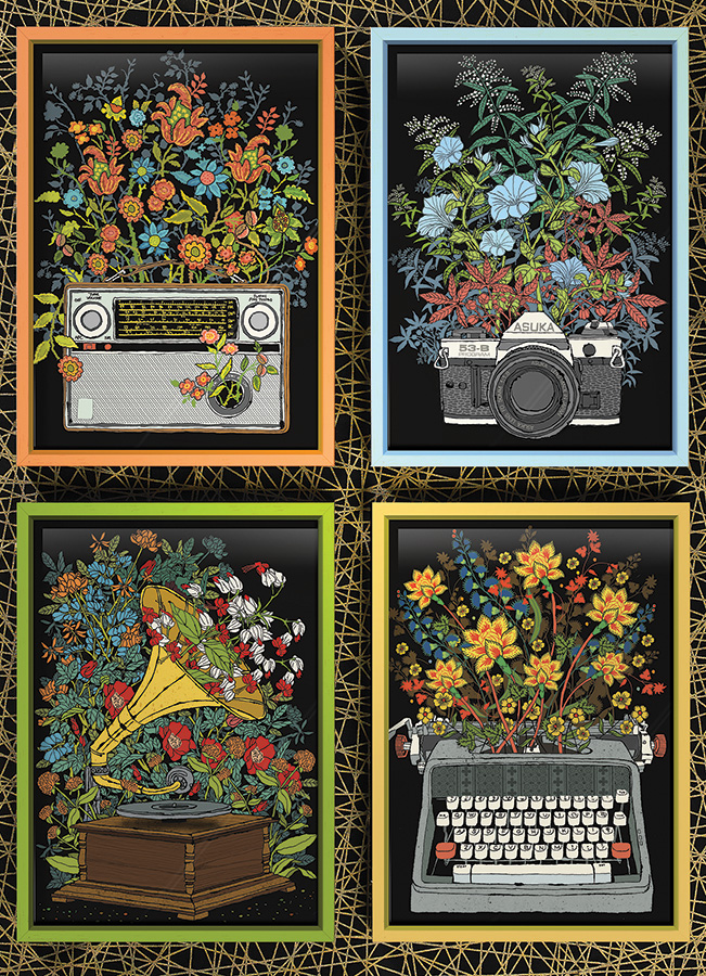 Floral Objects 1000 piece puzzle by Cobble Hill