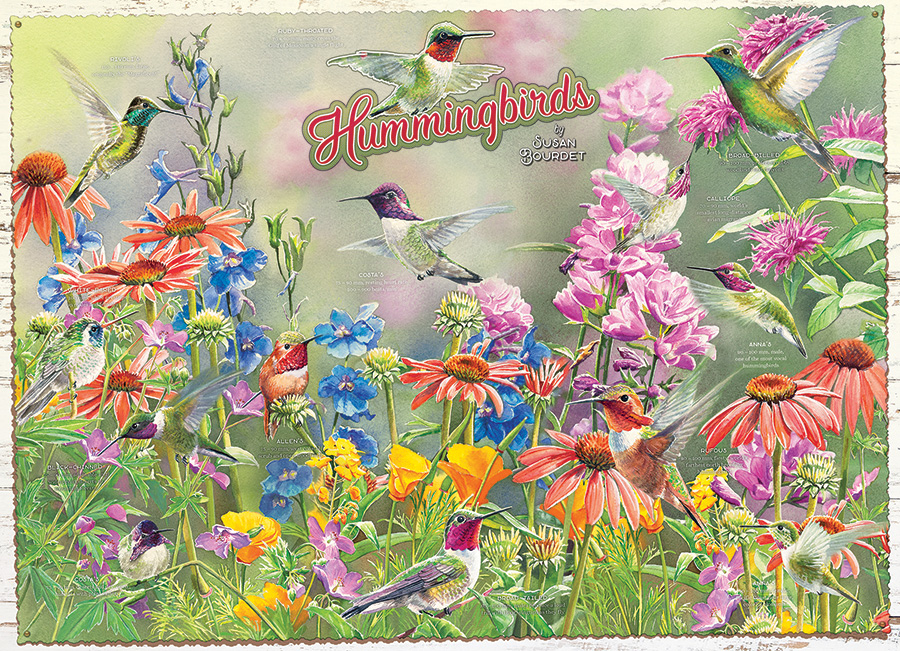 Hummingbirds 1000 piece puzzle by Cobble Hill