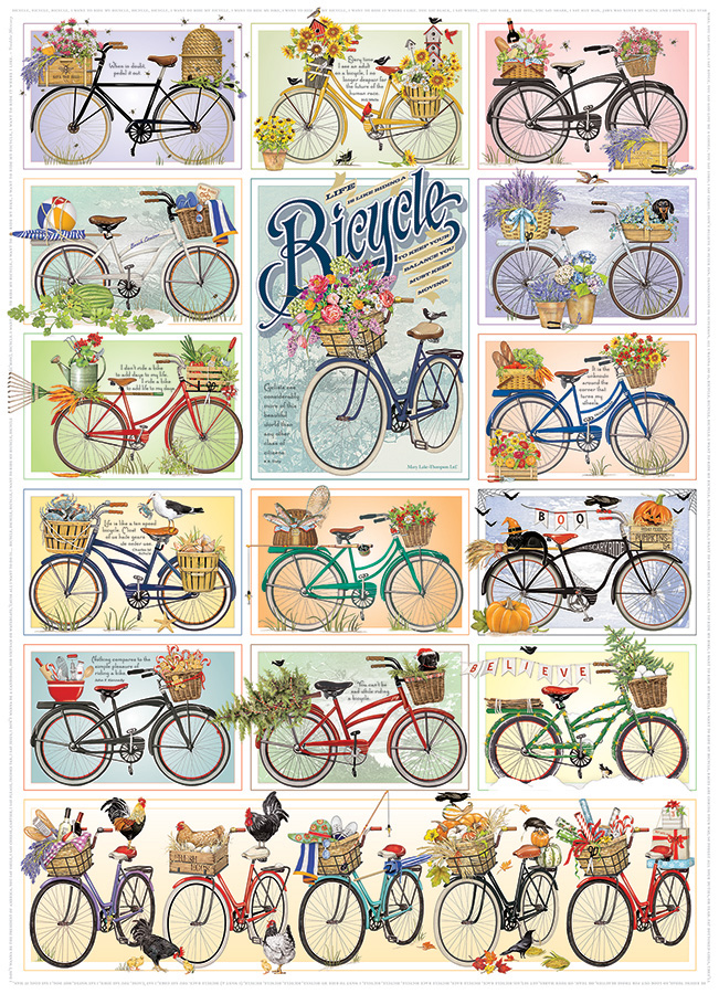 Bicycles 1000 piece puzzle by Cobble Hill
