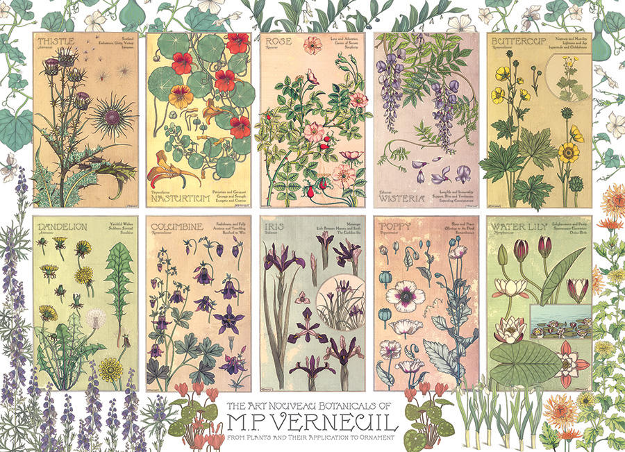 Botanicals by Verneuil 1000 piece puzzle by Cobble Hill