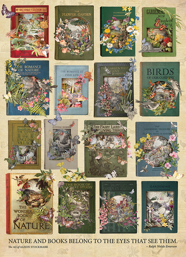 The Nature of Books 1000 piece puzzle by Cobble Hill