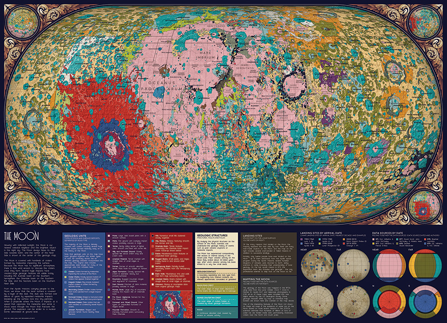 The Moon 1000 piece puzzle by Cobble Hill