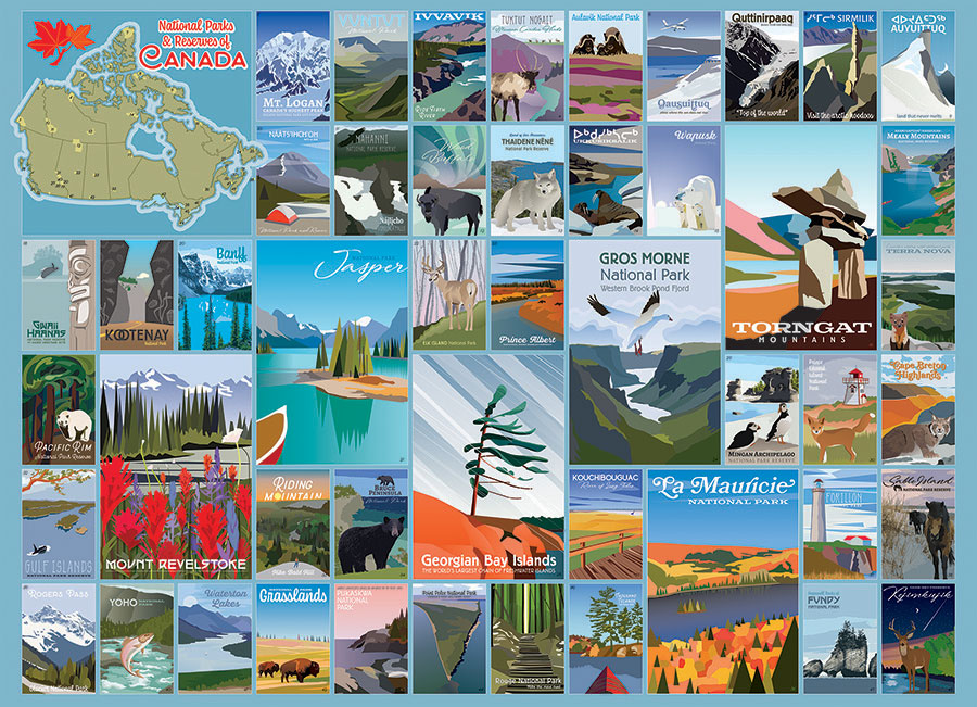 National Parks and Reserves of Canada Cobble Hill jigsaw puzzle 1000pc