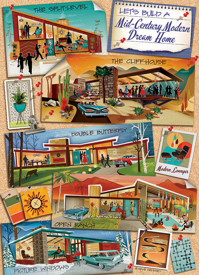 Mid-Century Modern Dream Home Cobble Hill jigsaw puzzle 1000pc