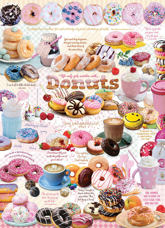 Donut Time Cobble Hill jigsaw puzzle 1000pc
