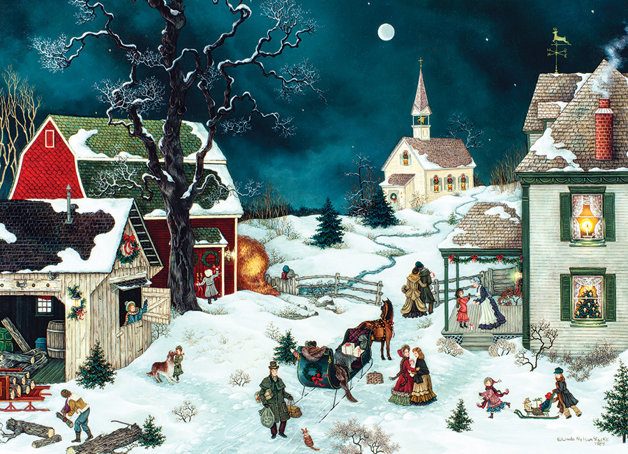Moonlit Winter 500 piece Cobble Hill puzzle
