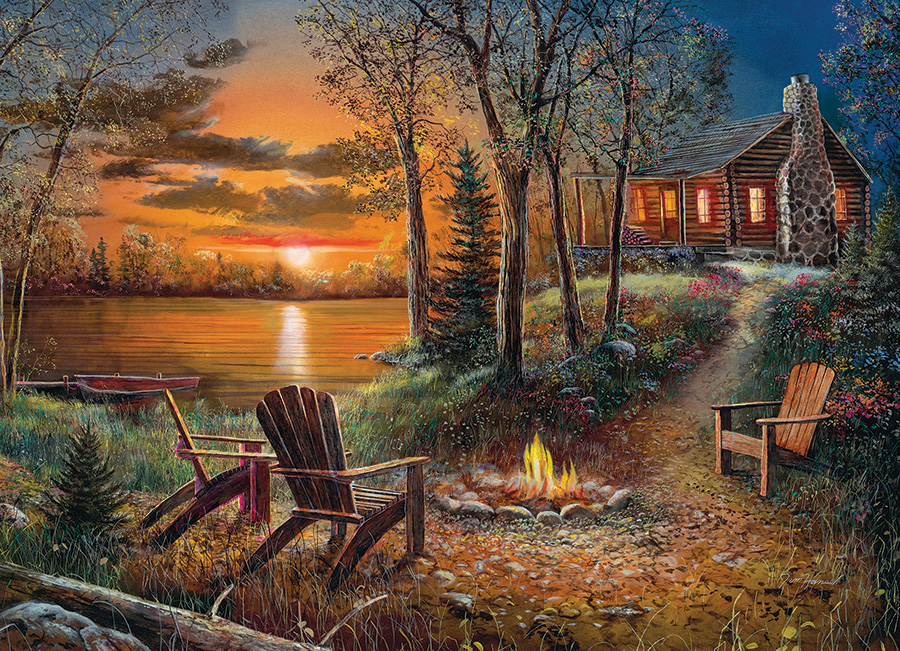 Fireside 500 piece jigsaw puzzle by Cobble Hill