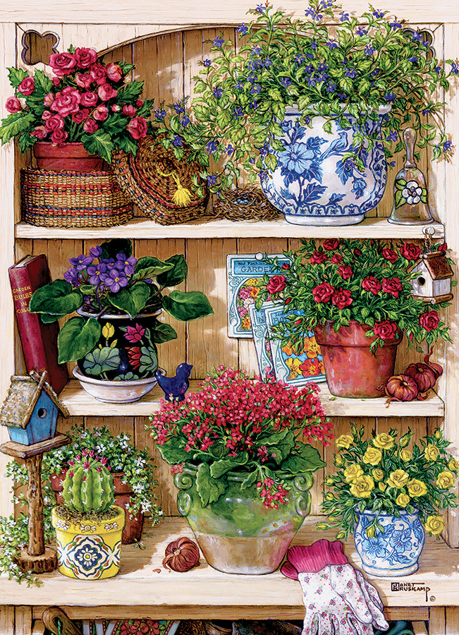 Flower Cupboard | 500 pieces | Cobble Hill Family Puzzle