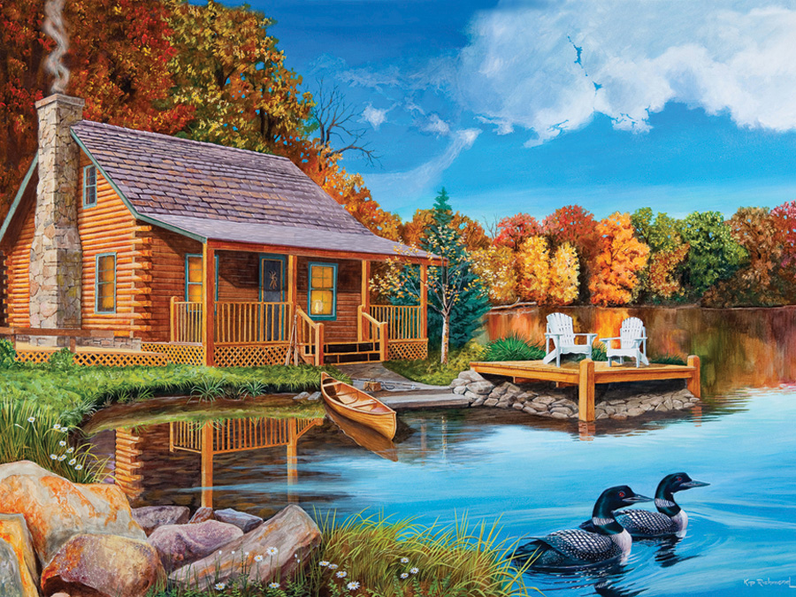 Cobble Hill 500 piece jigsaw puzzle - Loon Lake