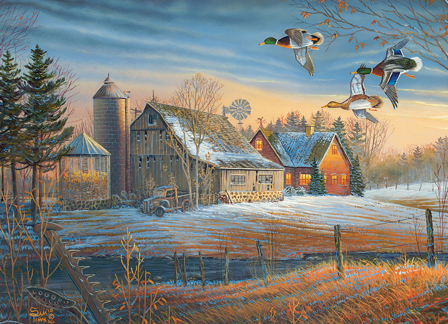 Farmstead Flyby 500 piece jigsaw puzzle by Cobble Hill