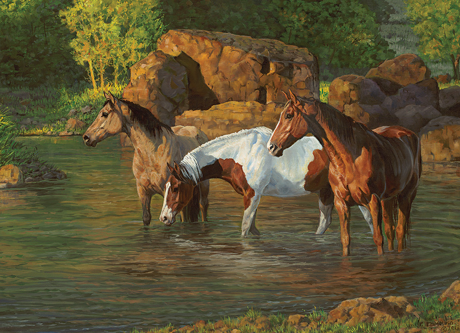 Horse Pond 500 piece jigsaw puzzle by Cobble Hill