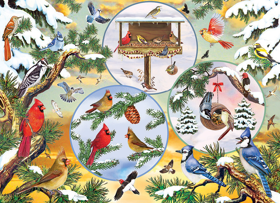 Winterbird Magic 500 piece jigsaw puzzle by Cobble Hill
