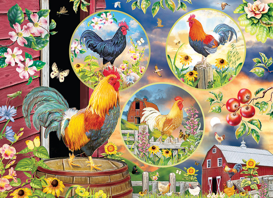 Rooster Magic 500 piece jigsaw puzzle by Cobble Hill
