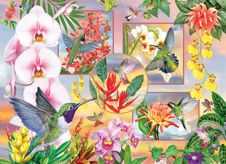 Hummingbird Magic 500 piece jigsaw puzzle by Cobble Hill