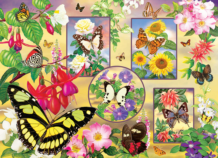 Butterfly Magic 500 piece jigsaw puzzle by Cobble Hill