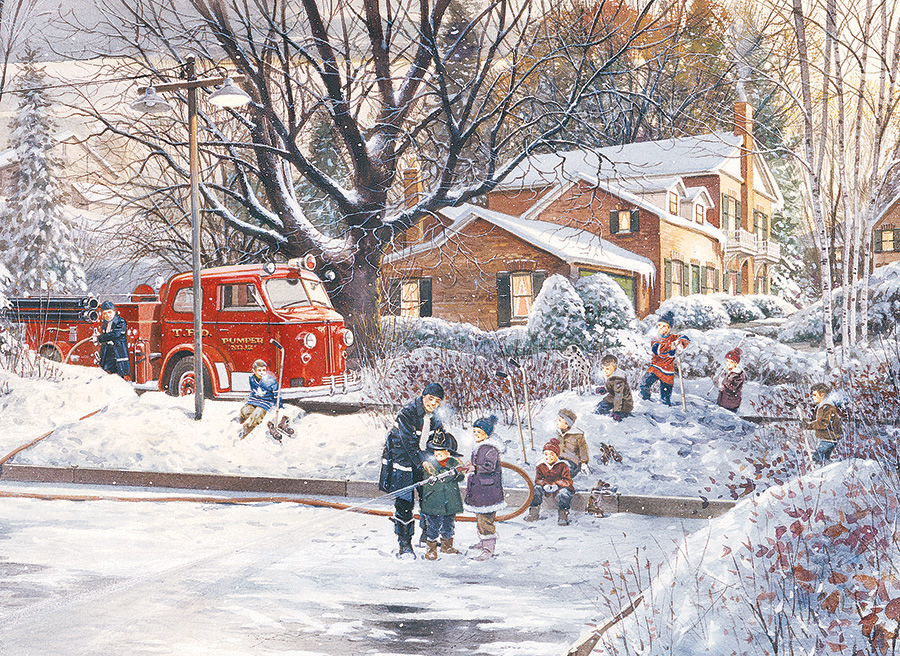 Big Game Tomorrow 500 piece jigsaw puzzle by Cobble Hill