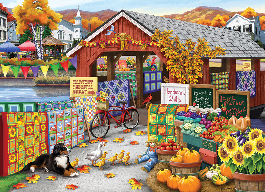 Harvest Festival 500 piece jigsaw puzzle by Cobble Hill