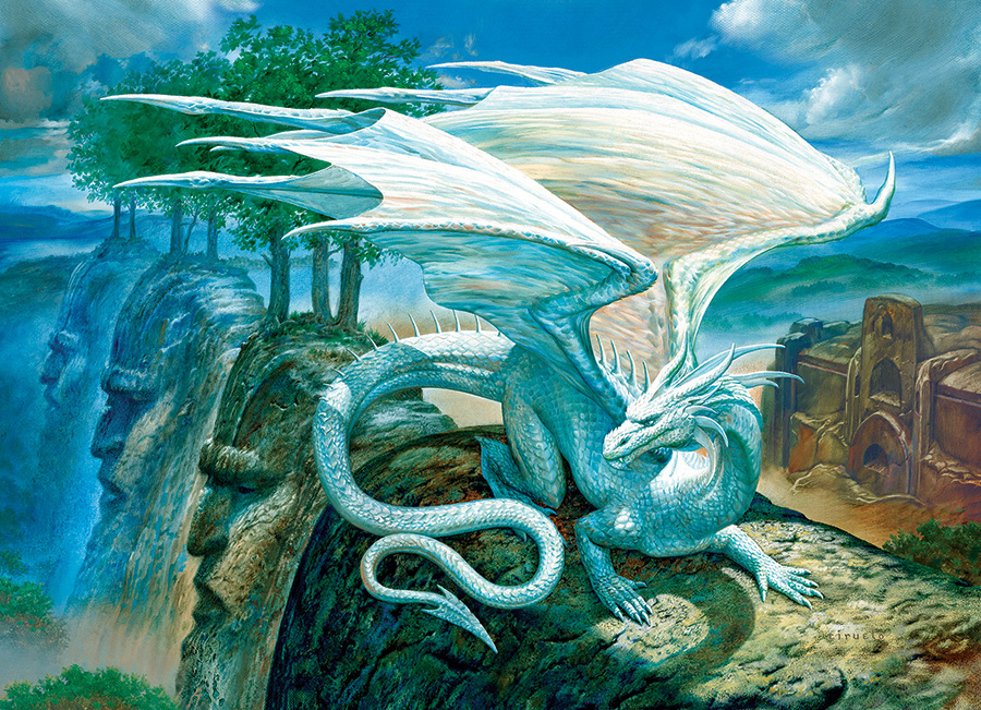 White Dragon 500 piece jigsaw puzzle by Cobble Hill