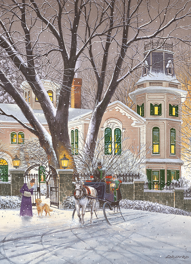 Sleigh Ride 500 piece jigsaw puzzle by Cobble Hill