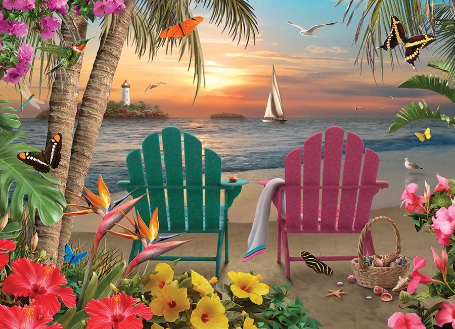 Island Paradise 500 piece jigsaw puzzle by Cobble Hill