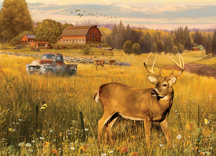 Deer Field 500 piece jigsaw puzzle by Cobble Hill