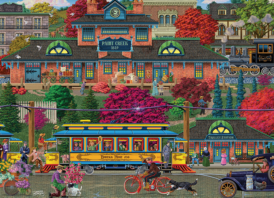 Trolley Station 500 piece puzzle by Cobble Hill