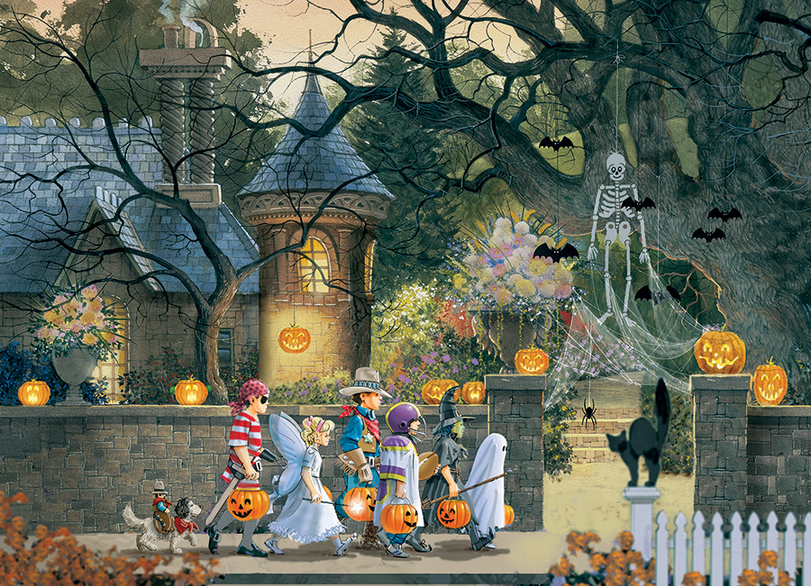 Halloween Friends 500 piece puzzle by Cobble Hill