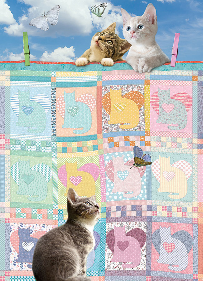 Quilted Kittens Cobble Hill Puzzles 500 piece jigsaw