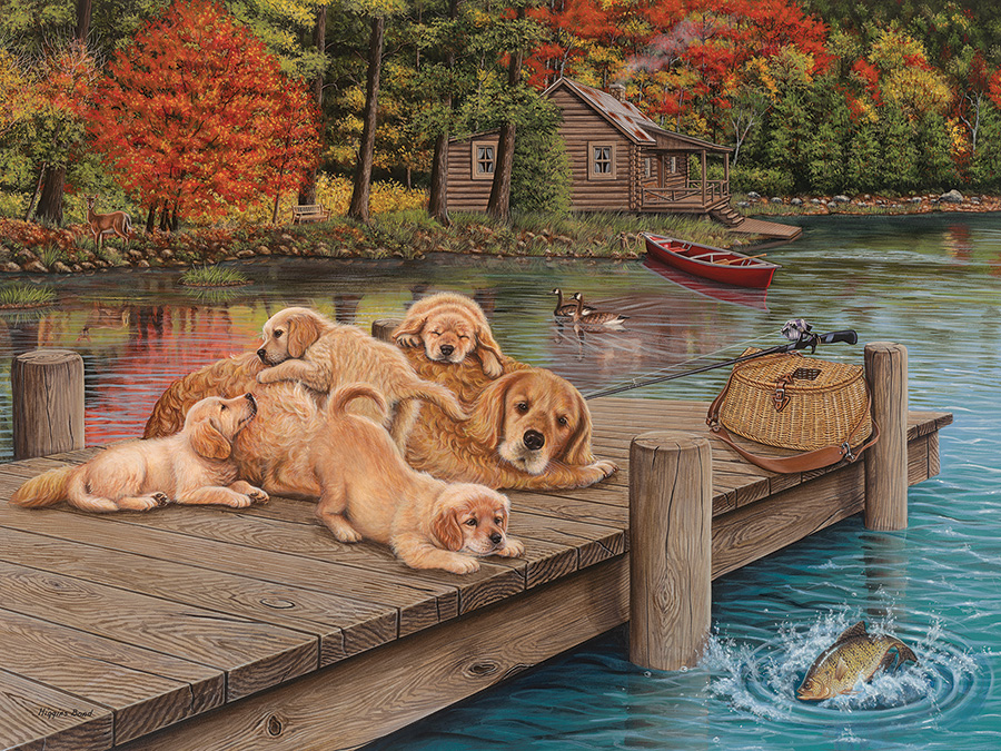 Lazy Day on the Dock Easy Handling 275 Piece by Cobble Hill Puzzle Co