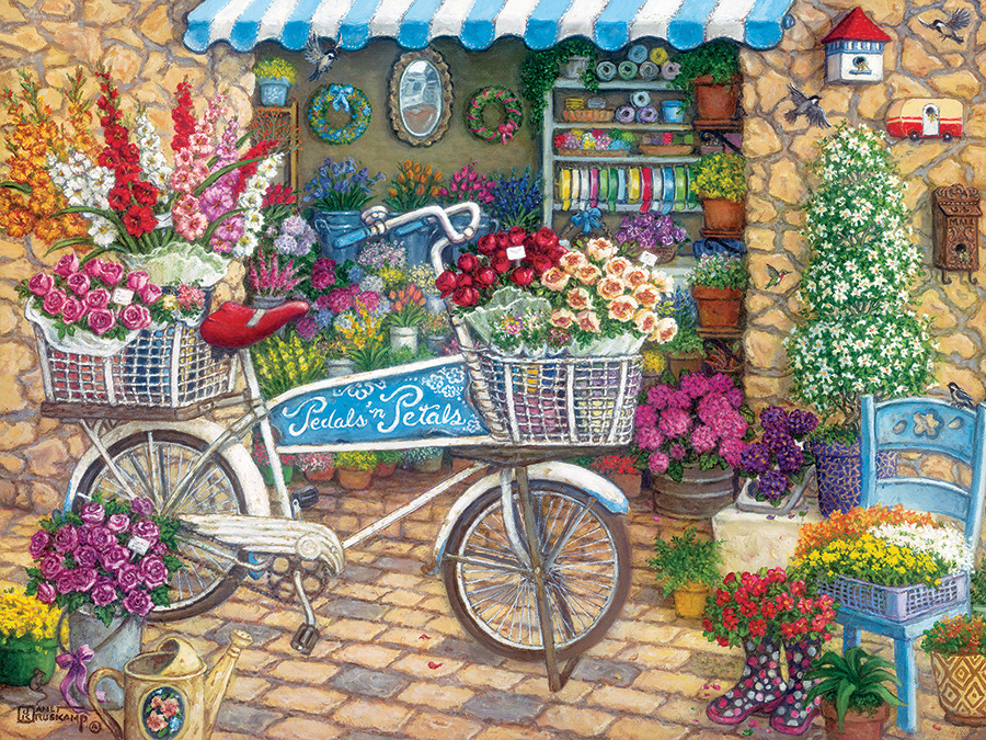 Pedals 'n' Petals Easy Handling 275 Piece by Cobble Hill Puzzle Co
