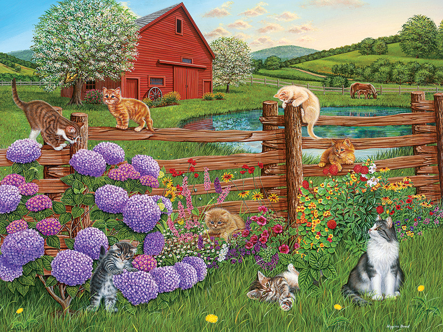 Farm Cats Easy Handling 275 Piece by Cobble Hill Puzzle Co