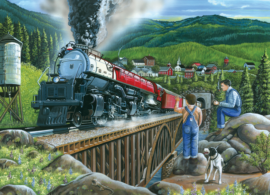 Steaming Out of Town Easy Handling 275 Piece by Cobble Hill Puzzle Co