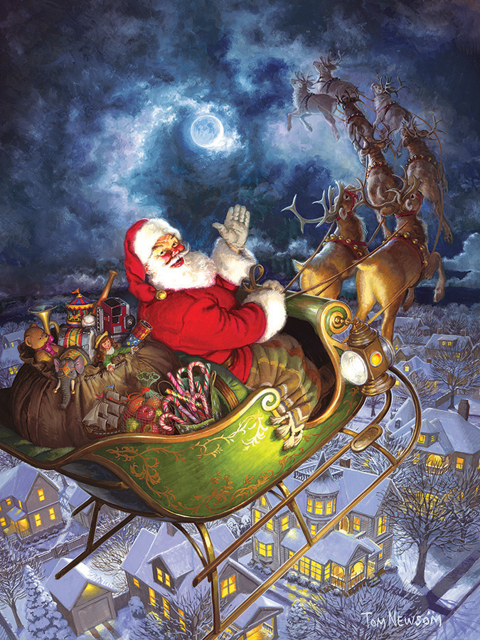Merry Christmas to All Easy Handling 275 Piece by Cobble Hill Puzzle Co