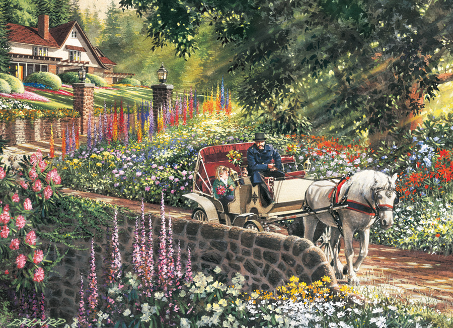 Carriage Ride Easy Handling 275 Piece by Cobble Hill Puzzle Co