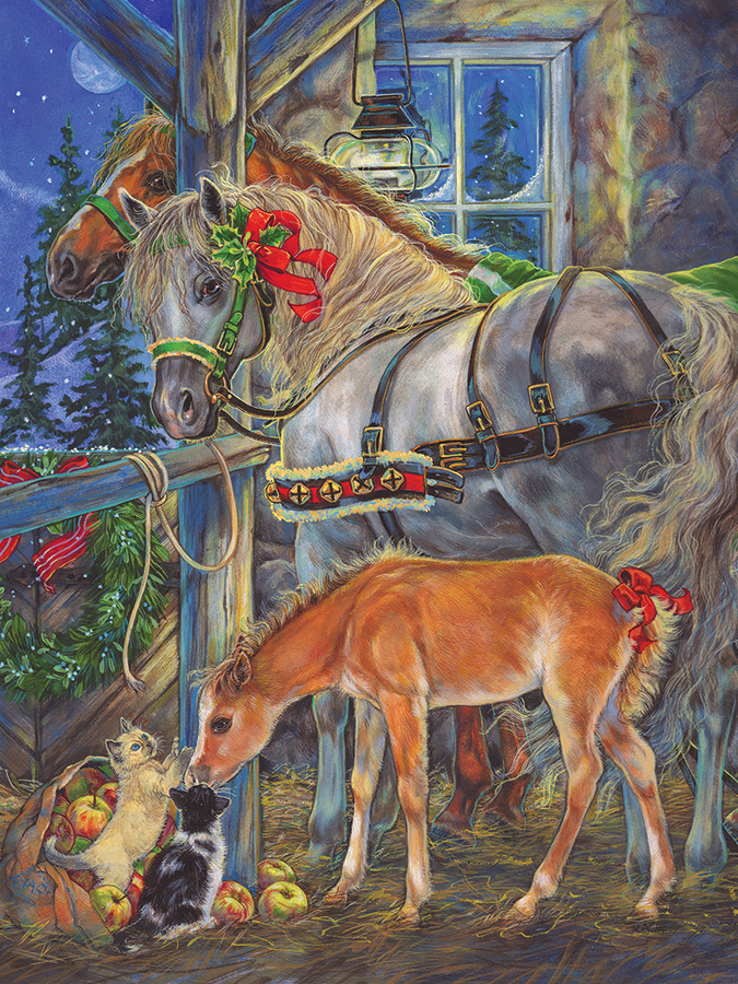 Holiday Horsies Easy Handling 275 Piece by Cobble Hill Puzzle Co